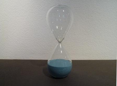 Sanduhr blau